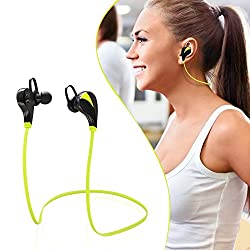 Best Bluetooth Sports Headphones ACTISOUND, Noise Isolating Wireless Headset with Microphone, High Quality Stereo Sound - CSR V4.0 Chip - Sleek Custom Earbuds, Lightweight Design - Running, Jogger, Gym, Hiking, Extreme Sports - Pairs easy & Fits All Android Cell Phones, iPhone 6, 6 Plus, 5, 5c, 5s, 4, iPad