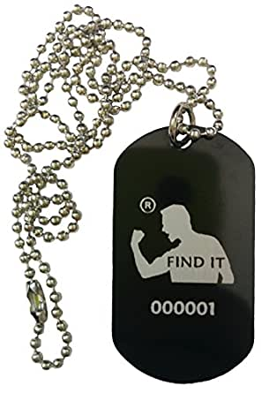 My Warrior Spirit Dog Tag necklace/keychain Anodized Aluminum
