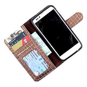 i-KitPit PU Leather Wallet Flip Case Cover For Motorola Moto G (2nd Gen) (Brown)
