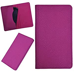 DCR Pu Leather case cover for Spice Stella 445 (pink)
