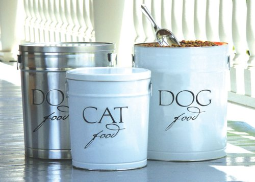 Harry Barker Small White Dog Food Storage Canister