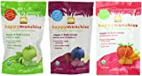 Happy Munchies Organic Superfoods Veggie and Fruit Crisps Variety Pack of 6 (1 Ounce Each)