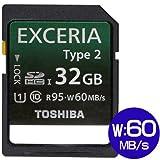 SDHCカード 32GB TOSHIBA  EXCERIA Type2 UHS-I 95MB/S  並行輸入 海外パッケージ品