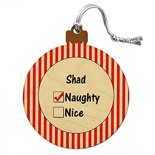 Holz Weihnachtsbaum Urlaub Naughty Ornament Namen Stecker sa-sh, Shad