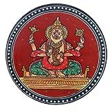 Pintura decoraciónativa hecha a mano Muebles Ganjifa religiosa Narsimha Avatara viejo ilustraciones miniatura