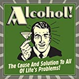 BCreative Alcohol The Cause And Solution Of All Life's Problems (Officially Licensed) Poster Small 12 X 12 Inches...