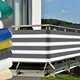 Balkon Sichtschutz 500x90 cm UV-Schutz - Balkonumspannung mit Befestigung -