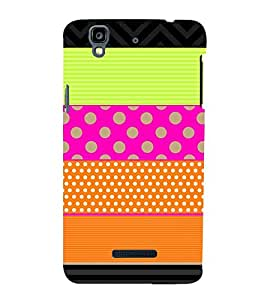 horizontal stripped multicoloured pattern 3D Hard Polycarbonate Designer Back Case Cover for YU Yureka Plus::Micromax Yureka Plus