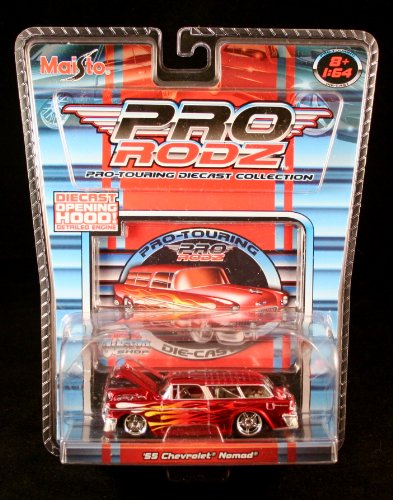 '55 CHEVROLET NOMAD * RED * Maisto Pro Rodz Pro-Touring Die-Cast Collection 1:64 Vehicle