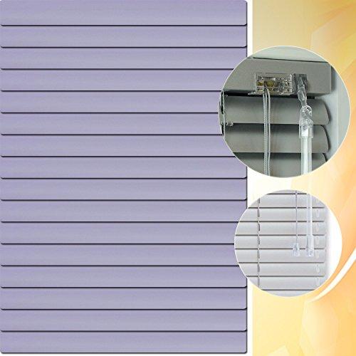 Aluminium Jalousie 205 x 190 cm (Breite x Höhe) – Lamellenfarbe 1414 flieder // Maßanfertigung Alu Jalousien Jalousette Rollo Plissee