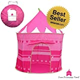 ★Fun Princess Tent™★ - Lightweight And Easy To Assemble And Take Down - ✓Perforated Windows Lets The Air In, And Help Keep The Bugs Out - ✓Includes 4 Ground Pegs - Polyester Fabric