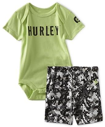 Amazon Com Hurley Baby Boys Newborn Creeper And Pant
