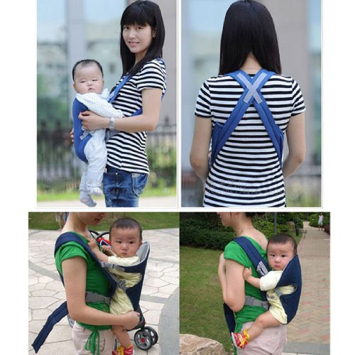 Blue New Front & Back 2-30 Months Baby Carrier Infant Backpack Sling Baby Sling