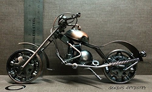 Metal sculpture retro classic handmade iron motorcycle for Motorcycle decorations home