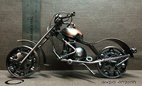 Metal Sculpture Retro Classic Handmade Iron Motorcycle