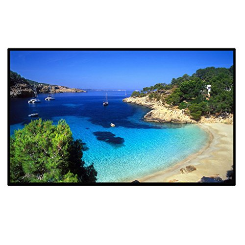 Great Features Of Outdoor Portable Movie Screen 120Inch 16:9 Home Cinema Projector Screen, PVC Fabri...