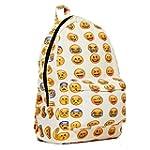 New QQ Printing Emoji Backpack Canvas...
