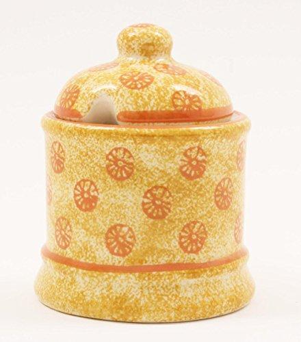 Oranges en céramique Design pot à marmelade/Boîte/Petit déjeuner Marmalade Plat-avec couvercle-10,5cm