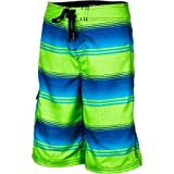 ONeill Boys 2-7 Santa Cruz Stripe, Green, Large/7