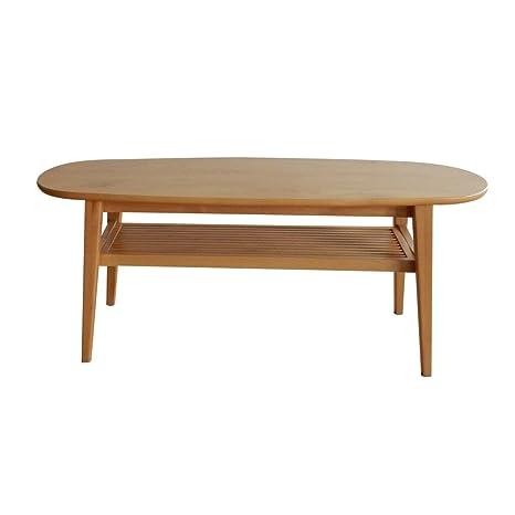 NEOWISER Table Basse Table A Thé En Bois Naturel Peuplier Massif 1100 x 400 x 450 MM Meuble De Salon