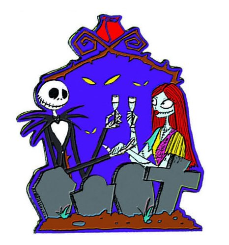 Disney Nightmare Before Christmas Jack and Sally Car Magnet