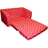 Newco Kids Chevron Flip Sofa, Purple and Orange