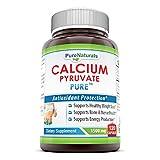 Pure Naturals Calcium Pyruvate, 1500 mg, 120 Capsules