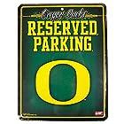NCAA Oregon Ducks 8.5'' x 11'' Metal Reserved Parking Sign