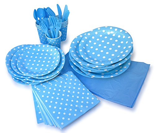 Buy Cheap LolliZ Party Pack For 8, Blue/Polka Dots Design