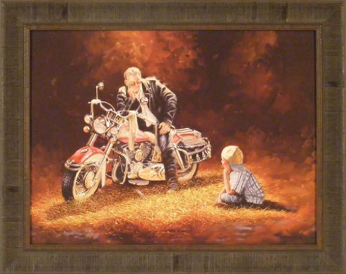 When I Grow Up by Dave Barnhouse 23x29 Harley Davidson Motorcycle Bike Riding Framed Art Print Wall Décor Picture