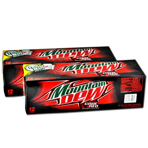 Mountain Dew Code Red Soda 12 Oz Fridge Mate $6.49 12-pk