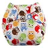 Swaddlebees One Size Simplex All In One Diapers, Owls