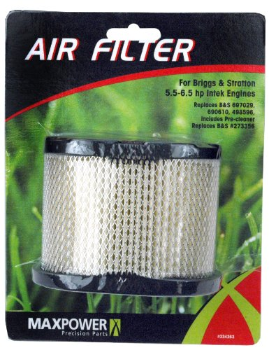Maxpower 334363 Air Filter For Briggs & Stratton 5.5 - 6.5 HP Intek Engines