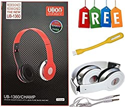 UBON Earphone UB-1360 For All Samsung, Xolo , Micromax, Oppo,One Plus Lava and smart Mobiles And Lapto(FREE GIFT USB LIGHT)