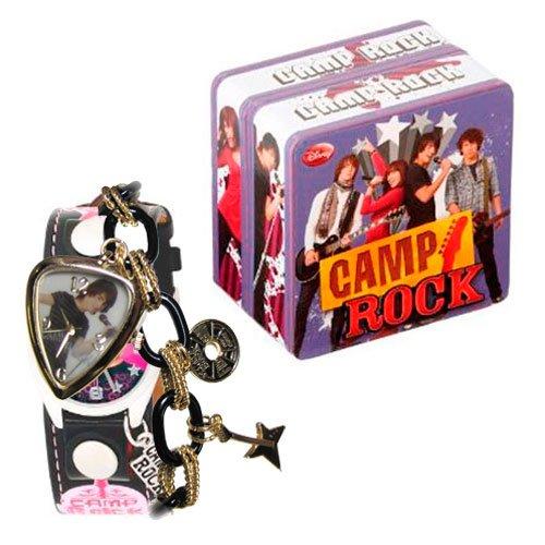 Disney Camp Rock Girls' CRO188 Black and Gold Tone ID Bracelet Watch