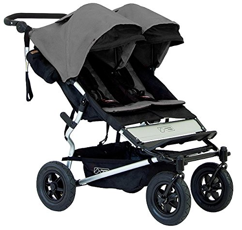 Mountain Buggy Duet Double Buggy Stroller, Black/Flint