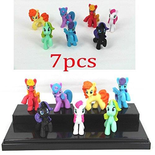 Qiyun 7pcs Set My Little Pony Mini Action Figures Model Girls Toys Gift New