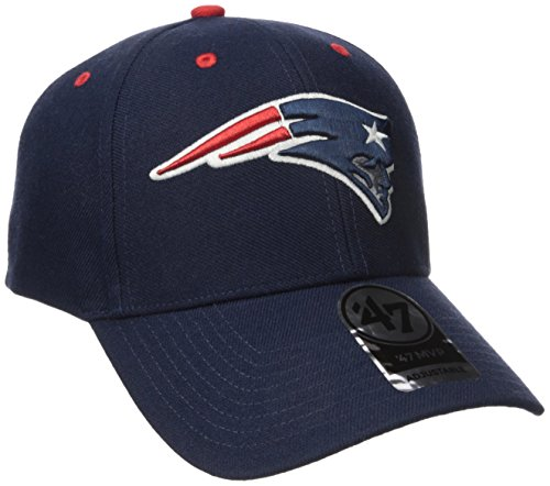 NFL New England Patriots '47 MVP Adjustable Hat, One Size, Light Navy (Patriots Ball D compare prices)