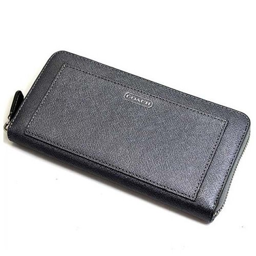 Coach   Coach 50427 Darcy Black Saffiano Leather Accordion Zip Around Wallet