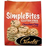 Pamela's Products Gluten Free Simplebites Mini Cookies, Chocolate Chip, 7-Ounce Pouches (Pack of 6)