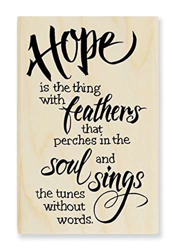 Stampendous Hope Sings Rubber Stamp