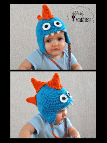 Monstosaurus Hat Knitting Pattern - All Sizes Newborn Through Adult Included front-481611