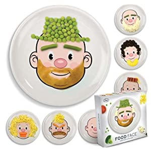 Food Face Ceramic Plate - make faces at the table