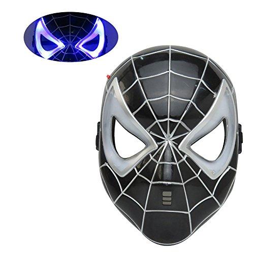 Mizzuco Halloween Cosplay LED Eye Mask For Children(Black01)