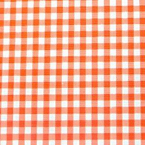 ギンガムチェック 生地 チェック 生地 ブロード 生地 (色:オレンジ) (チェックの大きさ:小・約3mm角) (50cmから注文可) (価格は10cmの価格)