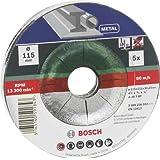 Bosch 2609256332 Assortiment de disques à tronçonner à moyeu déporté pour Métaux Diamètre 115 mm Diamètre d'alésage 22,23 Epaisseur 2,5 mm 5 disques
