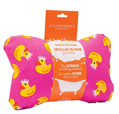 Upper canada soap inflatable bath pillow pink ducks home for Garden accessories canada