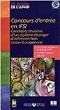 echange, troc Lamarre - Concours d'entrée en IFSI : Candidats titulaires d'un diplôme étranger d'infirmier hors Union Européenne