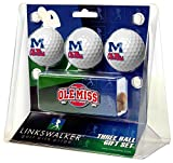 Ole Miss Rebels 3 Golf Ball Gift Pack with Hat Clip