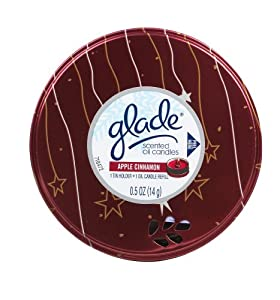 Glade Scented Oil Candle, Apple Cinnamon  (Pack of 6)